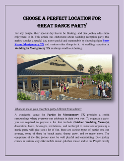 Choose A Perfect Location For Great Dance Party