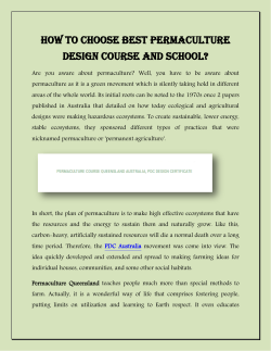How To Choose Best Permaculture Design Course And School