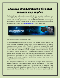 Maximize Your Experience with Best Speaker Hire Service