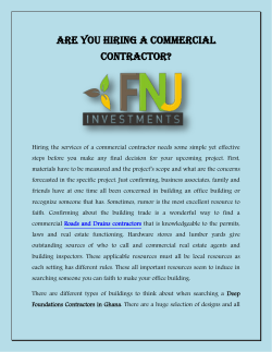 Are You Hiring a Commercial Contractor