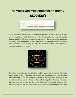 Do You Know The Process Of Money Recovery