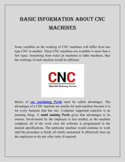 Basic Information about CNC Machines