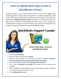 How to Update Bank Sign-in Info in QuickBooks Online?