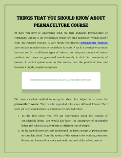 Things That You Should Know About Permaculture Course