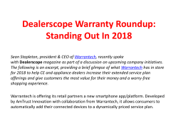 Dealerscope Warranty Roundup