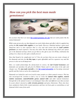 How can you pick the best man made gemstones!