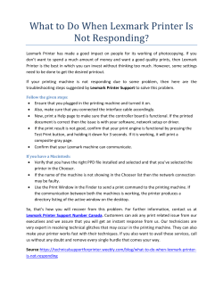 What to Do When Lexmark Printer Is Not Responding