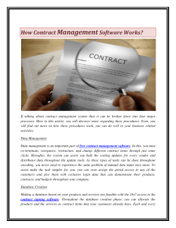 How Contract Management Software Works