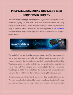 Professional Sound and Light Hire Services in Surrey
