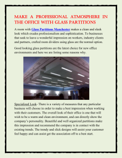 Make a Professional Atmosphere in the Office With Glass Partitions