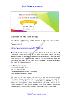 MCSA 70-743 exam dumps