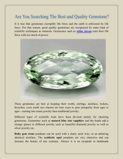 Are You Searching The Best and Quality Gemstone