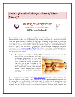 Get a safe and reliable purchase of Silver Jewelry