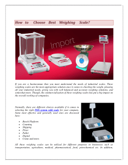 How to Choose Best Weighing Scale