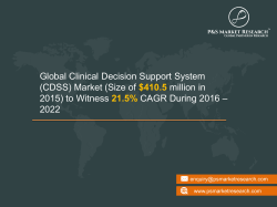 Clinical Decision Support System Market Growth 2022