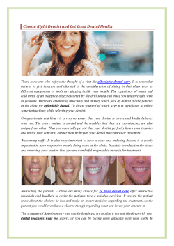 Choose Right Dentist and Get Good Dental Health