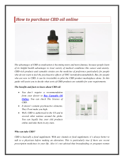 How to purchase CBD oil online