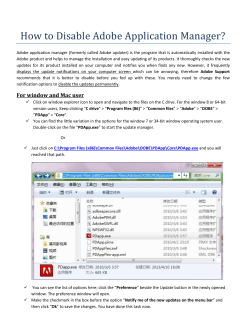 How to Disable Adobe Application Manager