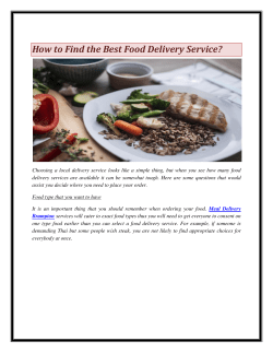 How to Find the Best Food Delivery Service