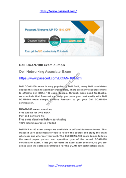 Dell DCAN-100 exam dumps