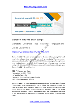 Microsoft Dynamics 365 MB2-715 dumps