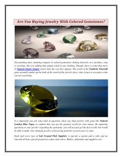 Are You Buying Jewelry With Colored Gemstones