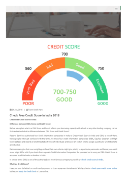 Credit Karo- Check Free Credit Score In India 2018
