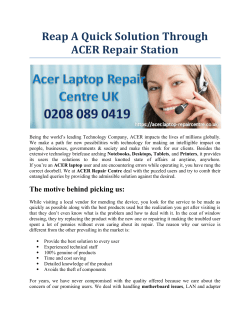 Reap A Quick Solution Through ACER Repair Station