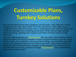 Customizable Plans, Turnkey Solutions