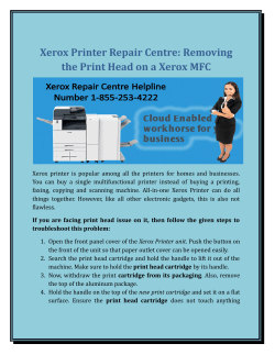 Xerox Printer Repair centre: Removing the Print Head on a Xerox MFC?