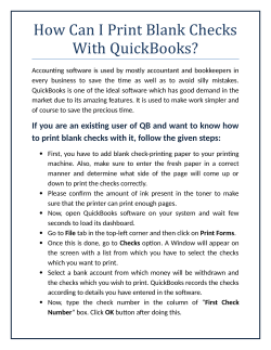 How Can I Print Blank Checks With QuickBooks