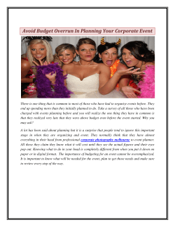 Avoid Budget Overrun In Planning Your Corporate Event