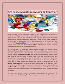 Are Loose Gemstones Good For Jewelry