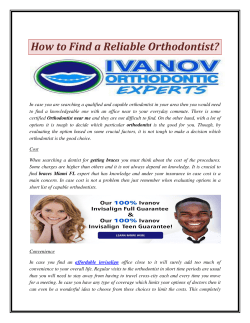 How to Find a Reliable Orthodontist