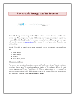 Renewable Energy and Its Sources