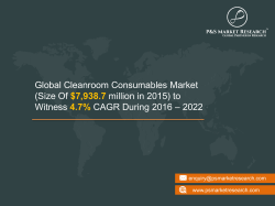 Cleanroom Consumables Market Research Report 2022