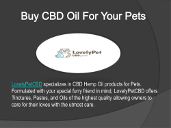 Buy CBD Oil For Your Pets