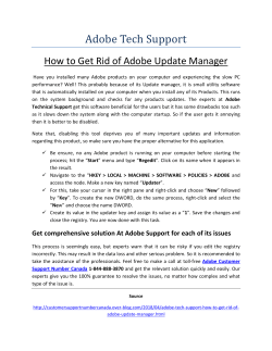 How to Get Rid of Adobe Update Manager