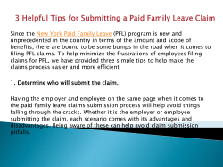 3 Helpful Tips for Submitting a Paid Family Leave Claim