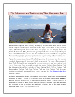 The Enjoyment and Excitement of Blue Mountains Tour