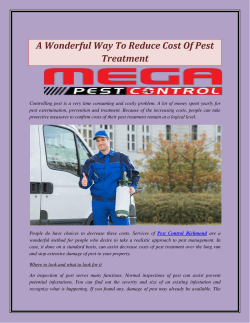 A Wonderful Way To Reduce Cost Of Pest Treatment