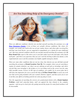 Are You Searching Help of An Emergency Dentist