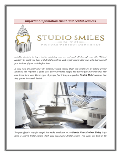 Important Information About Best Dental Services