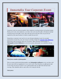 Immortalize your corporate events