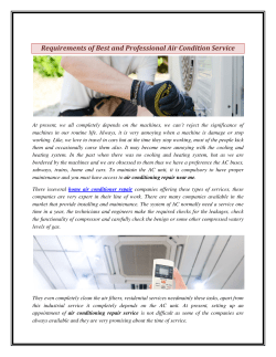 Requirements of Best and Professional Air Condition Service