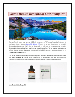 Some Health Benefits of CBD Hemp Oil