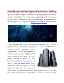 Some Benefits of Choosing Dedicated Server Hosting