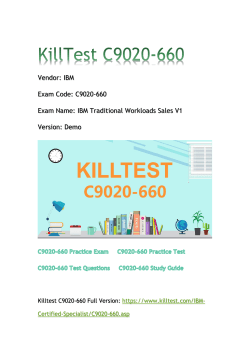 2018 Killtest C9020-660 Real Exam Q&As