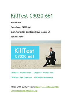 2018 Killtest C9020-661 Real Exam Q&As