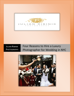 Four reasons to hire a luxury photographer for wedding in NYC